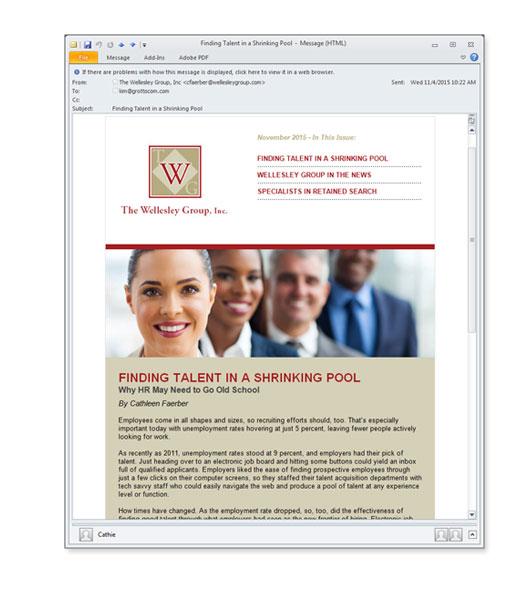 business consultant e-newsletter