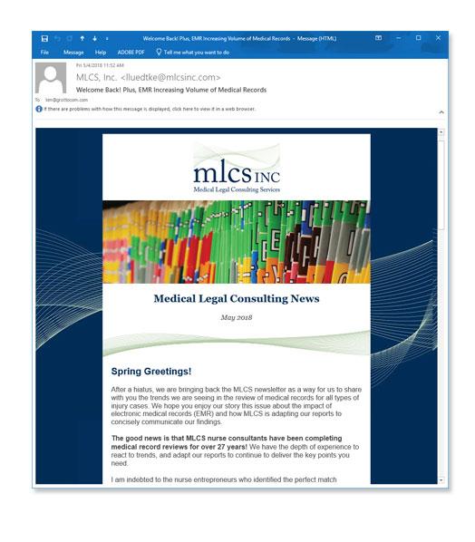 medical consultant e-newsletter
