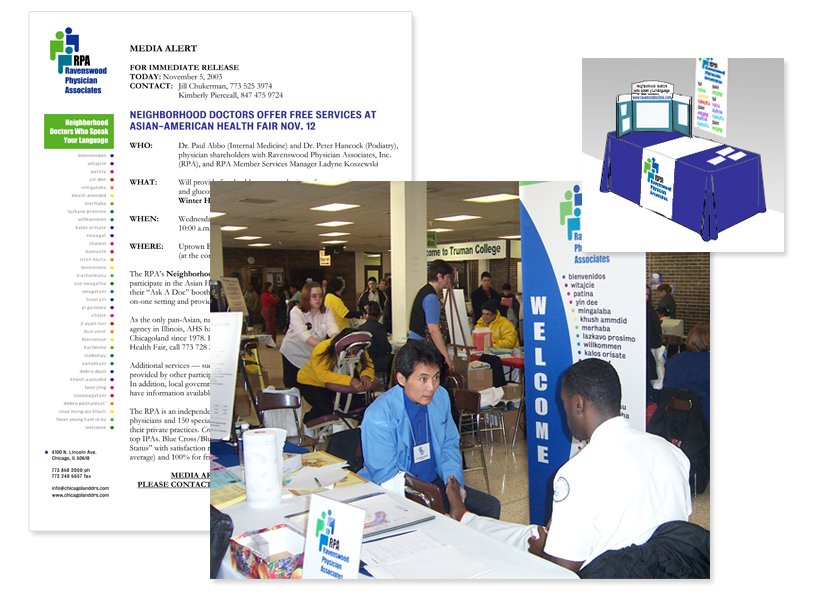 health fair exhibit materials