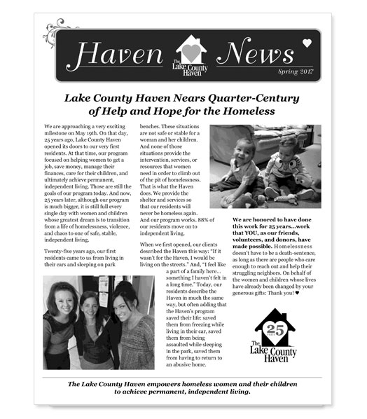 newsletter design layout