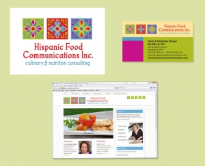Hispanic Food Communications branding