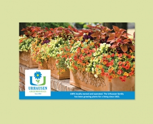 Urhausen Greenhouses postcard