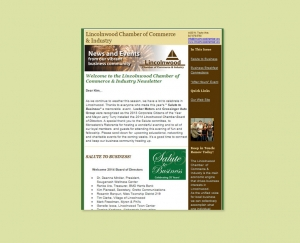 Chamber of Commerce e-newsletter
