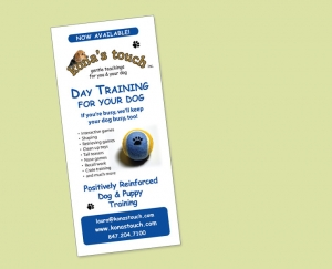 kona's touch dog training flyer