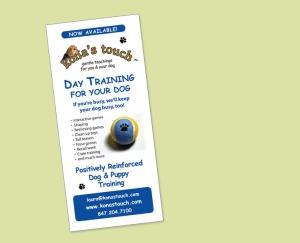 kona's touch dog training flyer