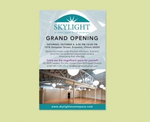 Skylight Event Space invitation