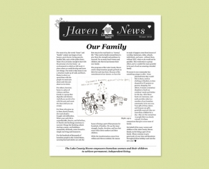Women's Shelter newsletter