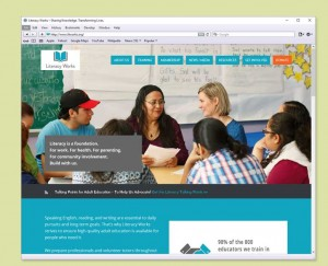 Literacy Works website design
