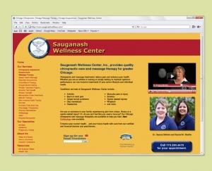 Wellness Center website design